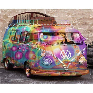 5D Diamond Painting VW Bus 60s Flashback