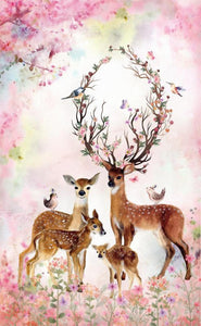 5D DIY Diamond Embroidery Beautiful Deer Landscape Round Drill
