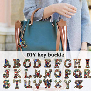 A-Z DIY Diamond Painting Keychain