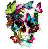 Colorful Skull And Butterflies 5D Diamond Art Painting