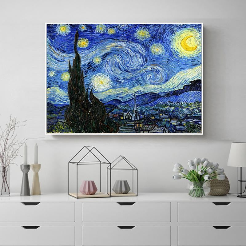 5D Starry Night DIY Full Drill Diamond Art Painting
