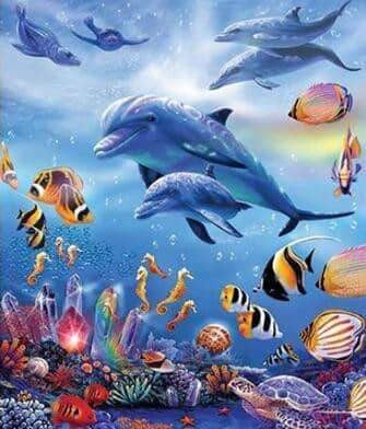 5D DIY Underwater Wonders Diamond Art Painting Full Square Drill