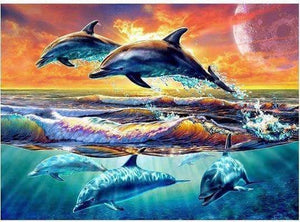 Amazing 5D Jumping Dolphins Full Square Drill