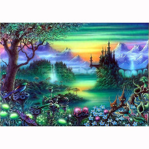 Castle In The Forest 5D Diamond Painting New Arrival