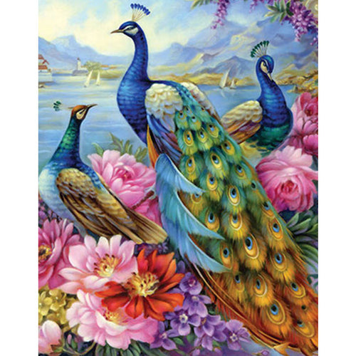 Gorgeous Peacock 5D DIY Diamond Art Painting Kit