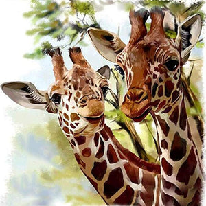 5D Full Square Drill Giraffe Diamond Painting