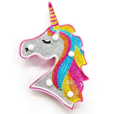 Hot Sale 5D DIY Diamond Painting Unicorn LED Light Decoration