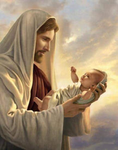 Diamond 5D Jesus & Miracle Baby Diamond Painting Art