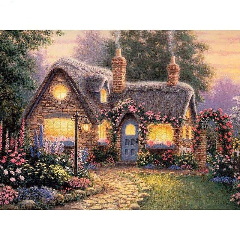 Colorful Landscape Village New Arrival Full Square Drill 5D Diamond Painting
