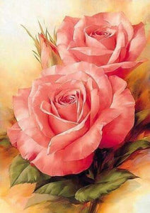 Pretty Pink Rose 5D Full Square Drill Diamond Painting