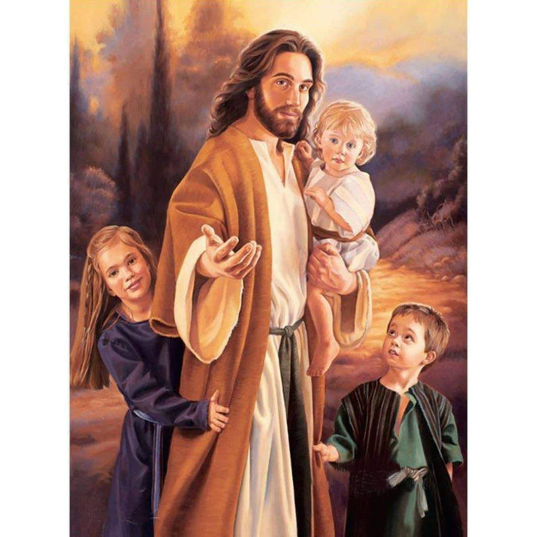 Prayer Time With Jesus And Children  5D  Diamond Painting