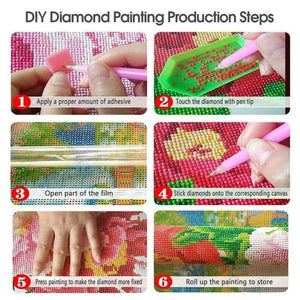 5D Diamond Painting Full Drill  Colorful Tree Round Drill