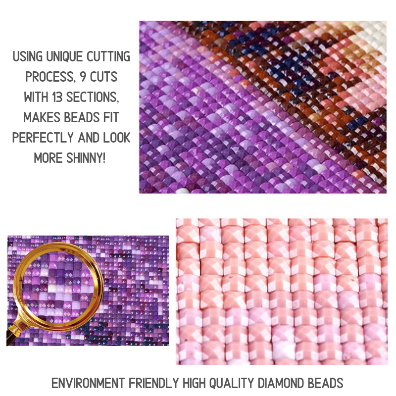 Purple Love 5D Diamond Art Painting Kit