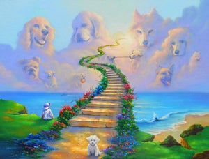 5D Dogs In Heaven Full Drill Diamond Painting