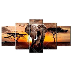 Full Square Drill Elephant 5D Diamond Painting Multi Panel