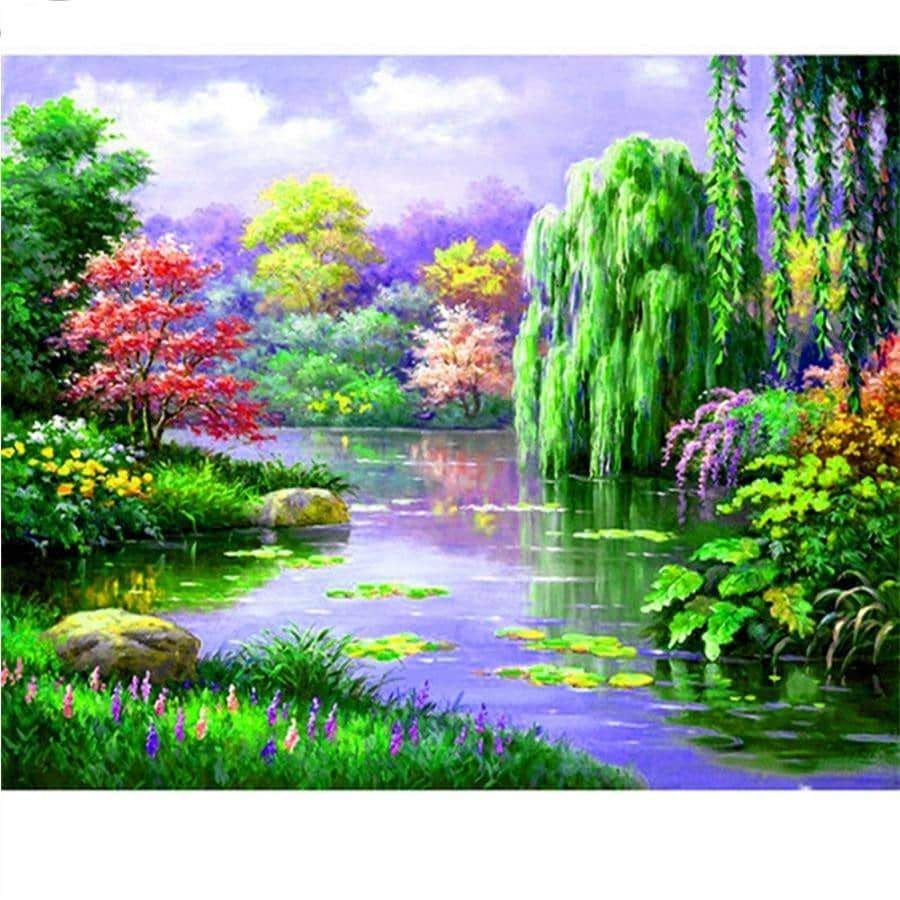 5D Square Diamond Landscape Over20 Colors