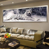 Amazing 5D White Tiger Diamond Art Painting New Arrival