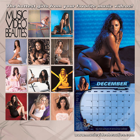VINTAGE Music Video Beauties <br/>RARE Sealed 2004 Calendar<br/>First Pro Photos by Nick Saglimbeni
