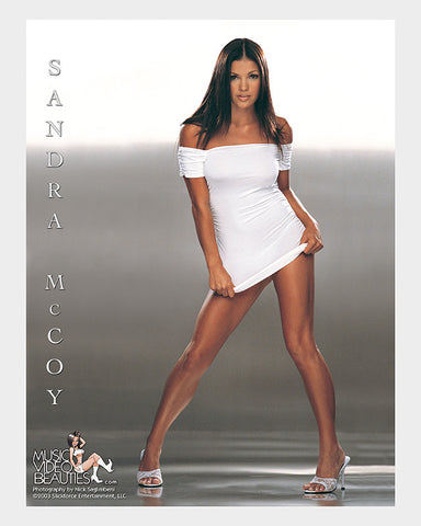 Sandra McCoy - Music Video Beauties RARE 8x10 Glossy: Platinum<br/>*Signed Option Available