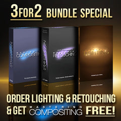 3 For 2 Bundle Special - Mastering Lighting, Retouching & FREE Compositing