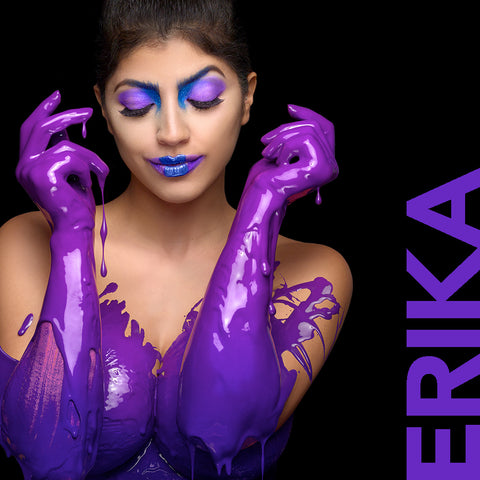 Erika Medina in purple by Nick Saglimbeni for Painted Princess Project