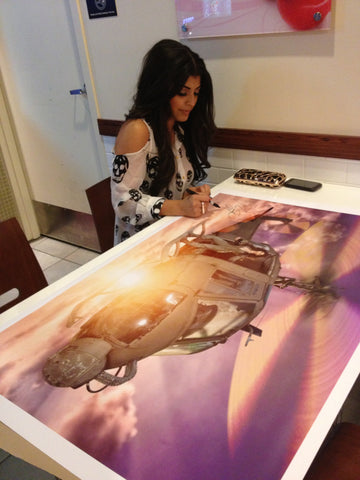 "SlickforceGirl - 27""x41"" Archival Poster Signed by Nick & Erika!"