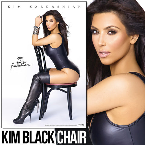 "Kim Kardashian - Black Chair 24""x36"" Wall Poster"