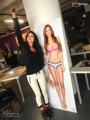 Melanie Iglesias with LIFESIZE Poster