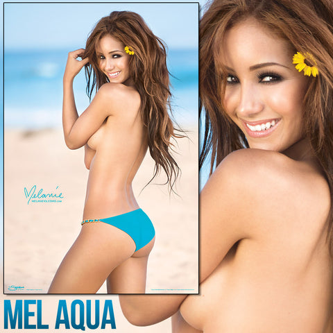 "Melanie Iglesias Topless Aqua Bikini 24""x36"" Poster * Signed Poster Available!"