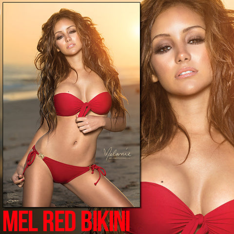 "Melanie Iglesias Red Bikini 24""x36"" Wall Poster * Signed Poster Available!"