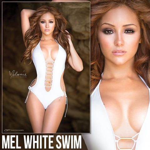 "Melanie Iglesias White Swimsuit 24""x36"" Poster</br><b>* Signed Poster Available!</b>"