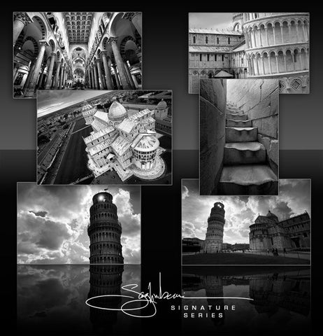 Landmarks of Pisa, Italy, photographed by Nick Saglimbeni.