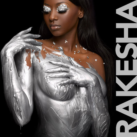Rakesha Rochelle in silver by Nick Saglimbeni for Painted Princess Project