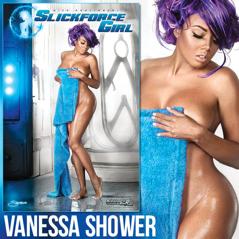 "SlickforceGirl Vanessa Space Shower 11""x17"" Collector's Poster"