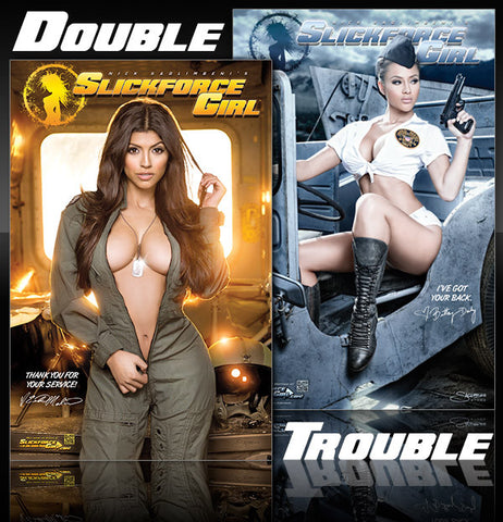 "Double Trouble: Erika & Brittany Pin-up 11""x17"" Mini-Posters"