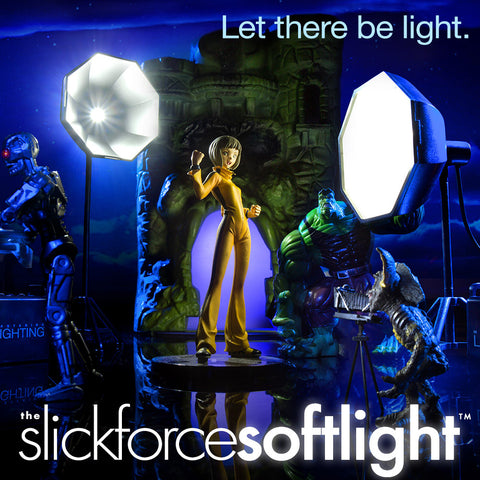 Slickforce Softlight™ - Miniature LED Umbrella Light w/ Diffuser