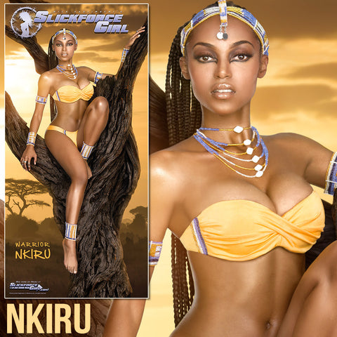 "SlickforceGirl Warrior Nkiru 13""x27"" Collector's Poster"