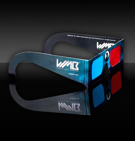 WMB 3D Paper Glasses -  FREE* Lightweight 3D Glasses