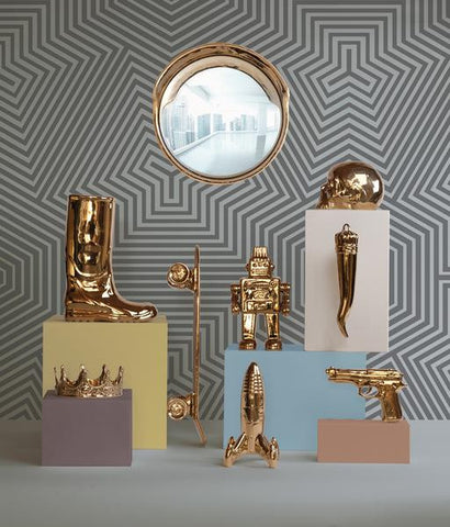 Limited Gold Edition Focalize Gold Mirror by Seletti