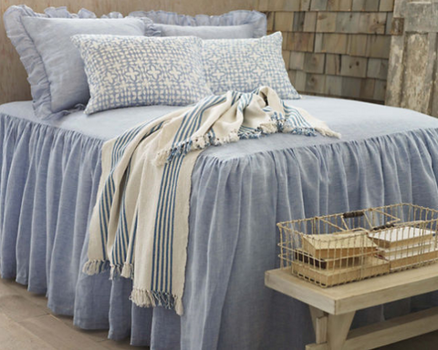 Ibiza French Blue Throw design by Pine Cone Hill