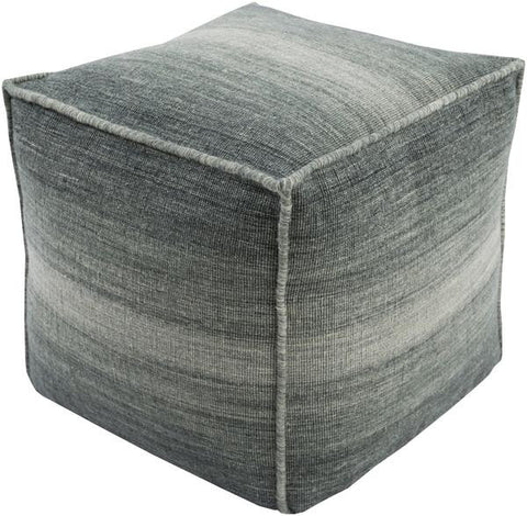 Chaz Pouf in Grey design by Surya