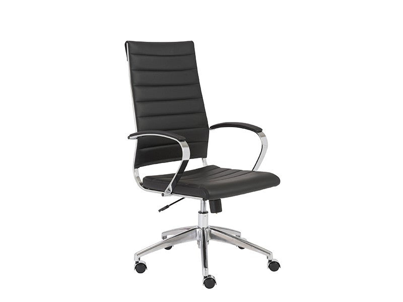 Axel High Back Office Chair in Black design by Euro Style