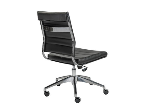 Axel Low Back Office Chair Armless in Black design by Euro Style
