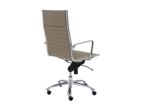 Dirk High Back Office Chair in Taupe design by Euro Style