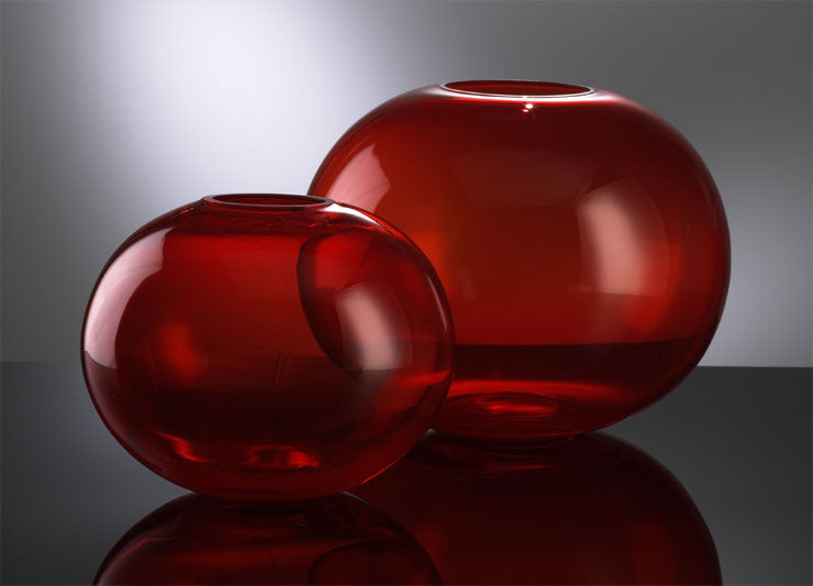 Small Red Pod Vase design by Cyan Design