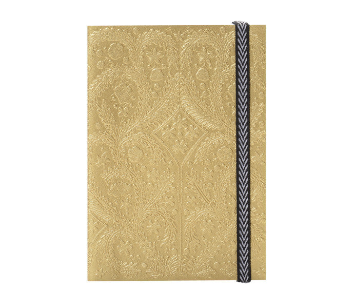 Paseo Embossed Gold Notebook design by Christian Lacroix
