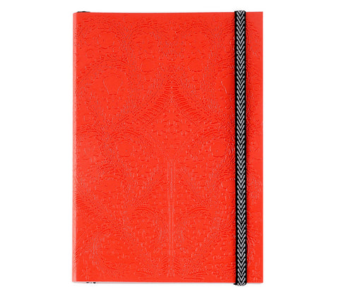 Paseo Embossed Scarlet Notebook design by Christian Lacroix