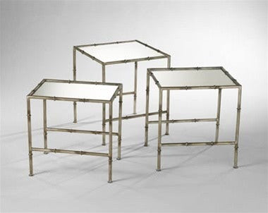 Bamboo Nesting Tables Set of 3 design by Cyan Design