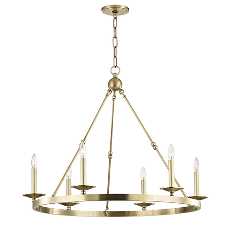 Allendale 6 Light Chandelier by Hudson Valley Lighting