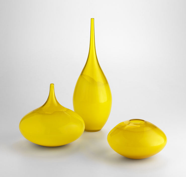 Yellow Moonbeam Vase in Assorted Sizes design by Cyan Design